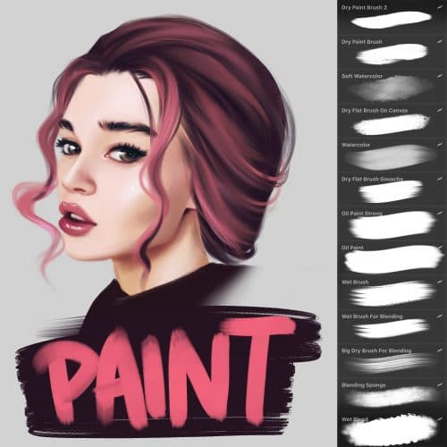 Best Brushes for Painting on Procreate - Alicja Prints