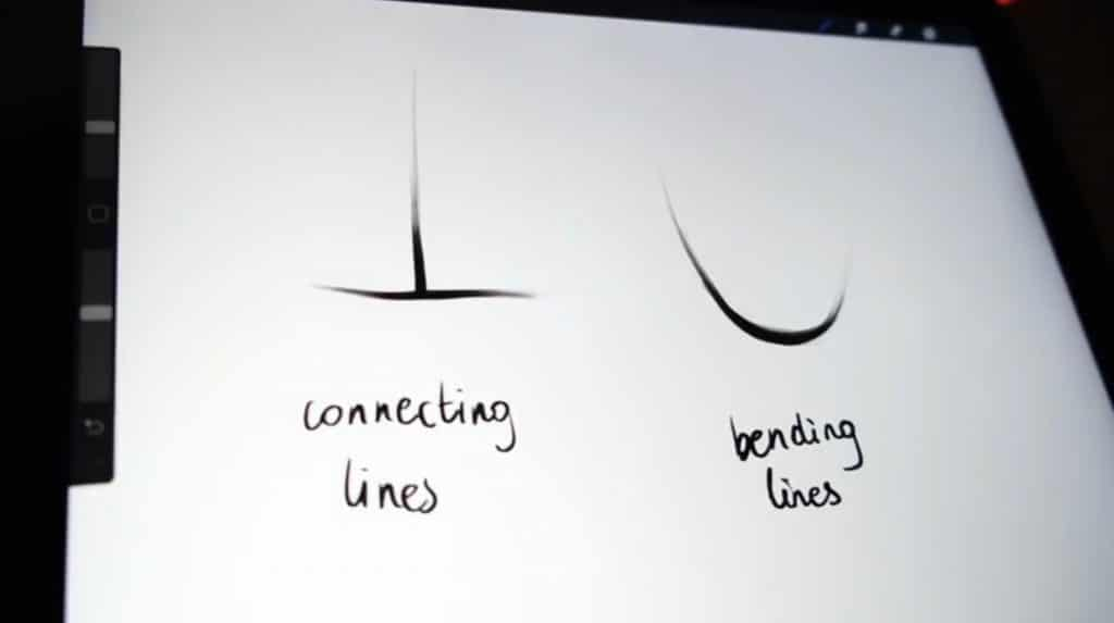 Make lines thicker where they connect or bend.