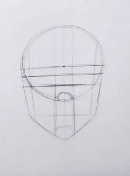 Basic construction lines to draw any face. How to draw faces tutorial example procreate easy tutorial