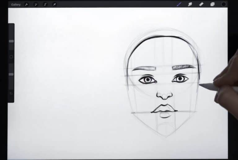 Final sketch of a traditionally ethnic hairline