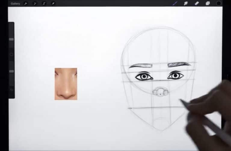 construction lines to draw any lips example procreate how to draw faces step by step tutorial